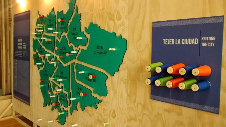 Mapa de actividad interactiva en la Biblioteca Urbana #WUF7