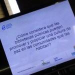 """Pregunta orientadora en el Foro """"El papel de la Biblioteca Pública en la construcción de la Paz"""" llevado a cabo en el Sistema de Bibliotecas Públicas de Medellín"""