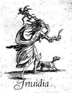 Envidia, Jacques Callot, 1619. Uno de los 7 pecados capitales. Disponible en dominio público en http://j.mp/2ep8lg6