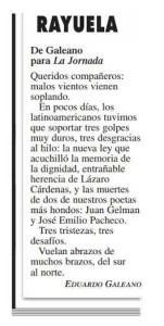 De La Jornada en línea el 28 de enero 2014