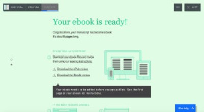 Finalización de la creación de un libro en Pronoun