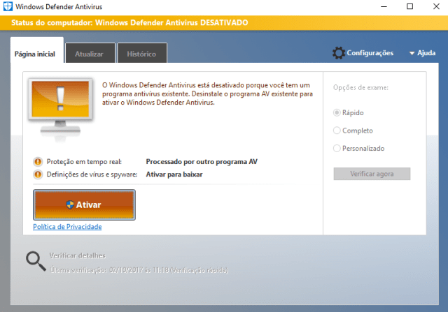 Windows Defender - Como corrigir o erro 577 do Windows Defender no Windows 10.