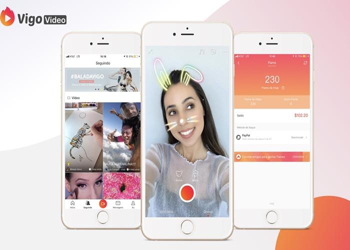 Vigo Video - App de rede social Vigo Video chega ao Brasil e conquista o 1º lugar no Google Play.