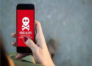 Smartphone com ameaça de vírus - Dicas para evitar Aplicativos Maliciosos no Smartphone.