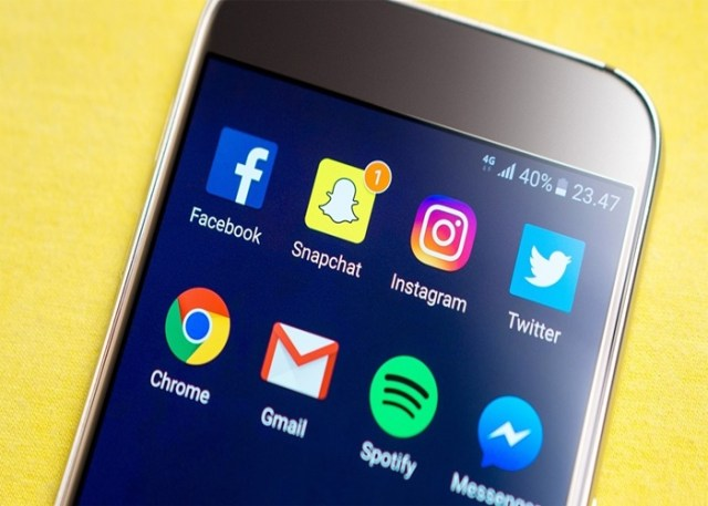 App de redes sociais no Smartphone