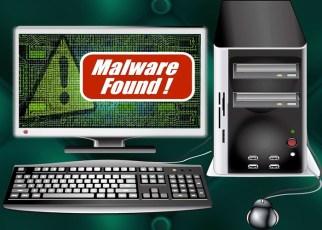 Computador infectado com Malware