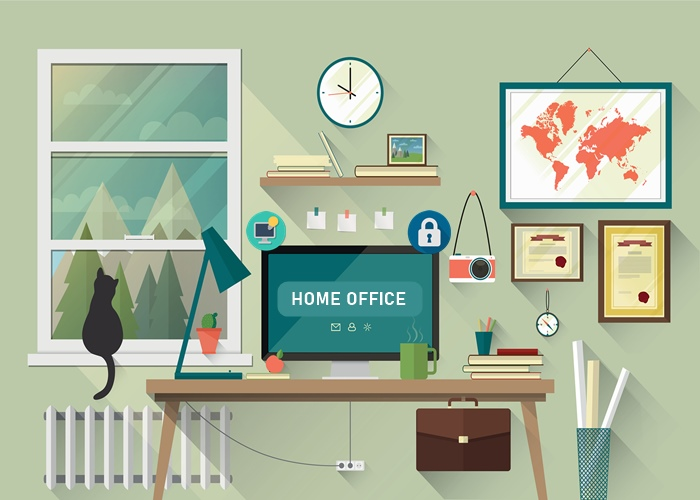 Trabalhar em casa com segurança