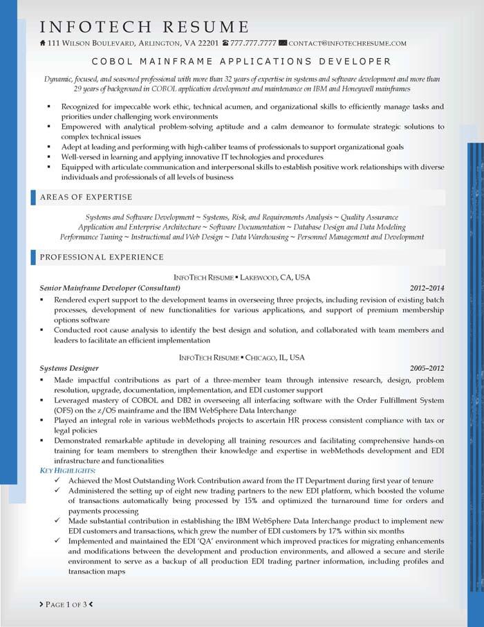mainframe developer resume examples - Mainframe Resume