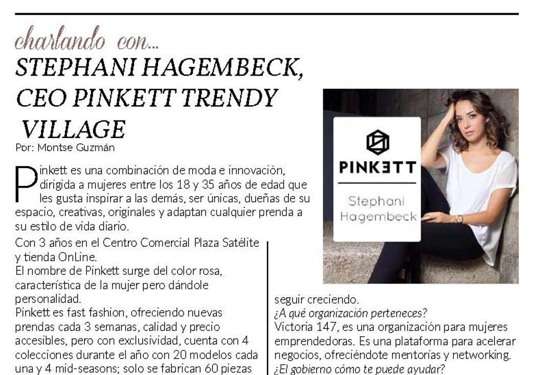 Charlando con… Stephani Hagembeck, CEO PINKETT TRENDY
