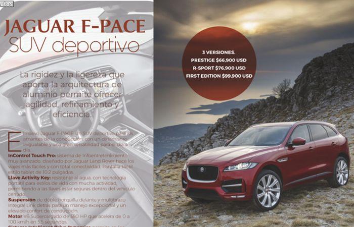 Jaguar F-Pace SUV deportivo