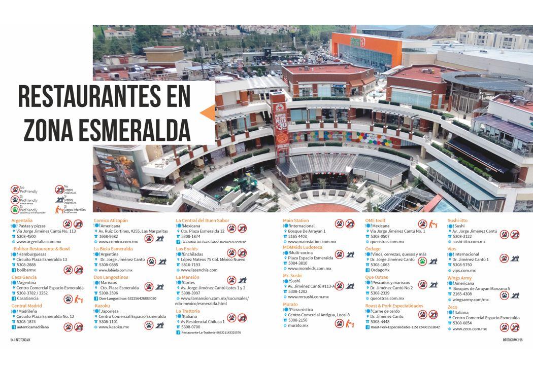 Restaurantes en Zona Esmeralda