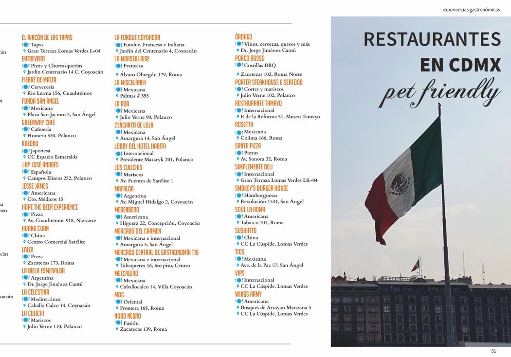 Restaurantes en CDMX pet friendly
