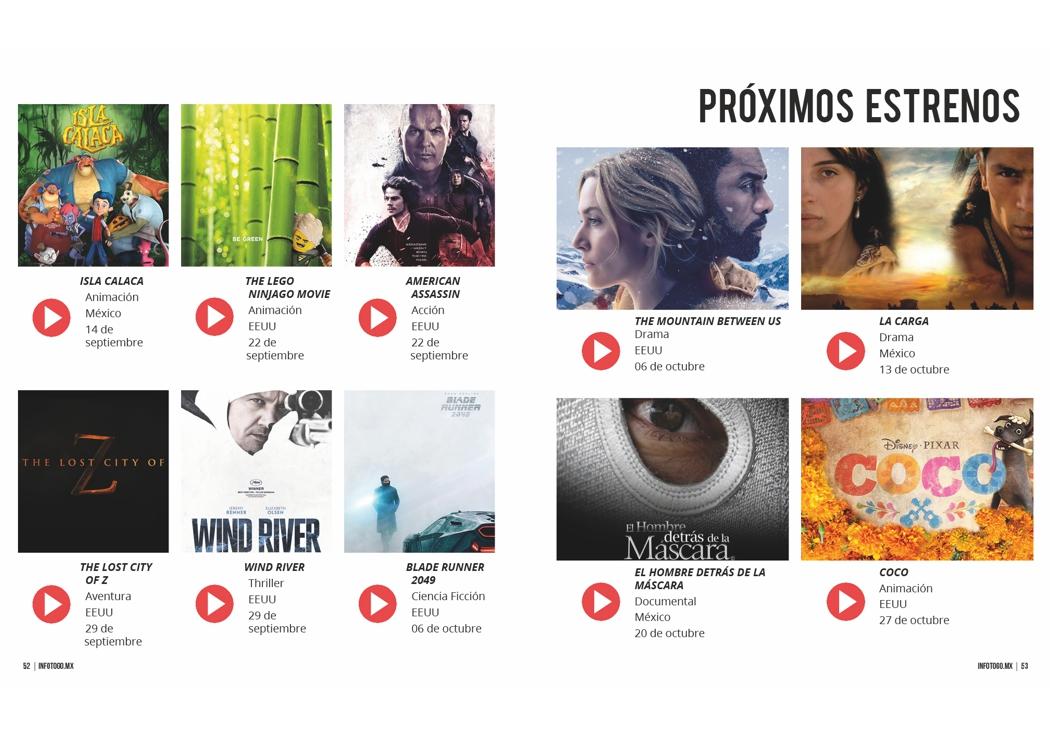 10 próximos estrenos en cine: septiembre y octubre