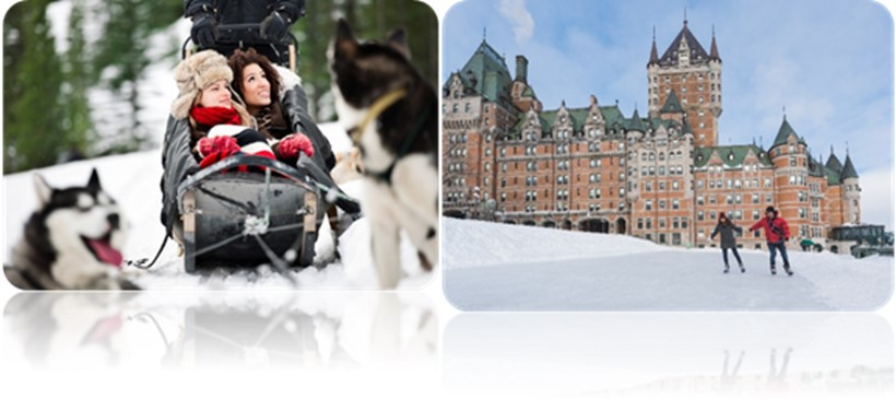 Experimenta unas vacaciones nevadas en Canadá