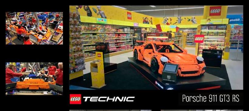 El Porsche tamaño real hecho con LEGO llega a México