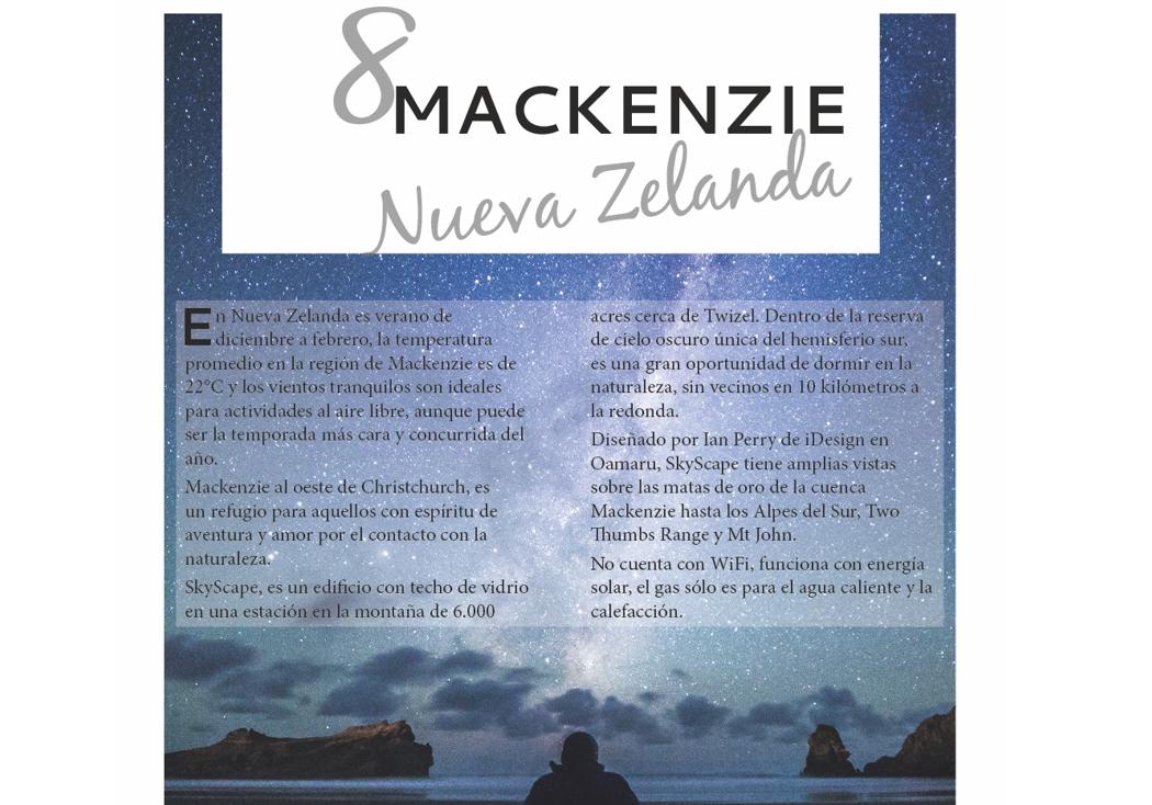 8. Mackenzie, Nueva Zelanda
