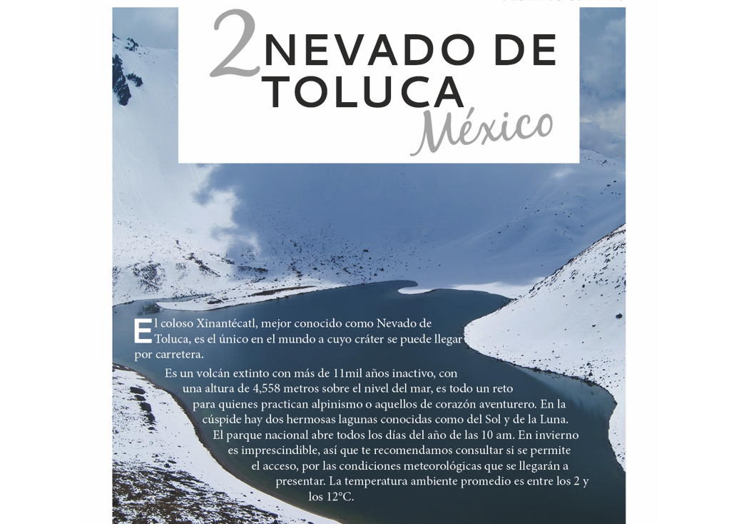 2. Nevado de Toluca, México