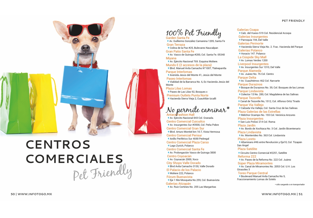 Centros Comerciales Pet Friendly en CDMX