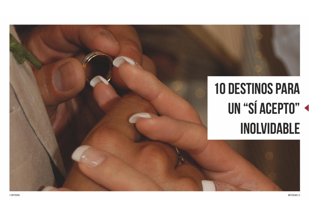 """10 destinos para un """"sí acepto"""" inolvidable"""