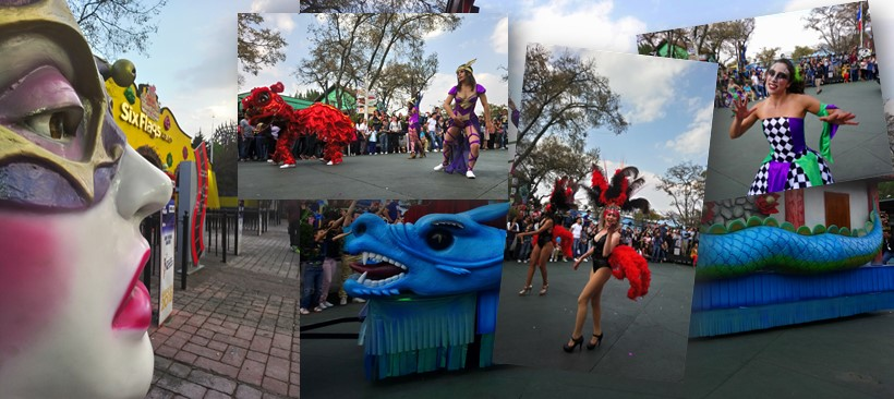 Espectacular carnaval de primavera Mardi Gras en Six Flags México