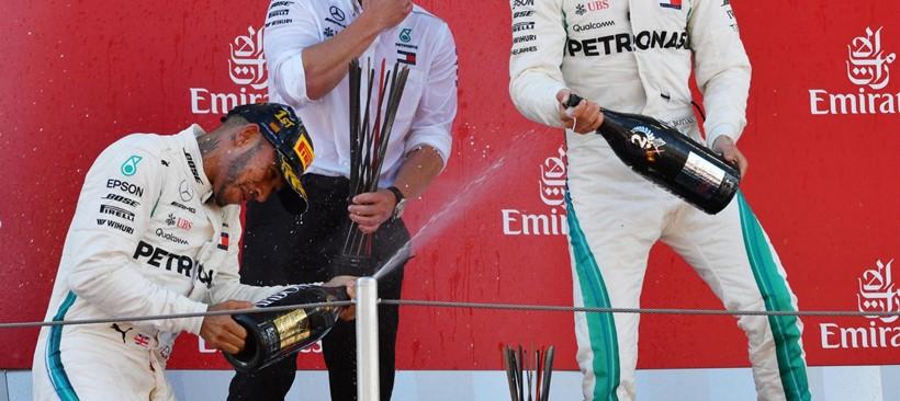 Hamilton gana el Gran Premio de España