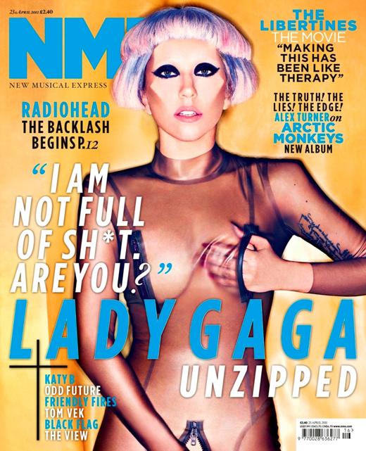 Lady GaGa откровенно для журнала NME