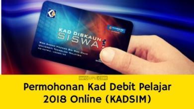 Permohonan Kad Debit Pelajar 2018 Online (KADS1M)