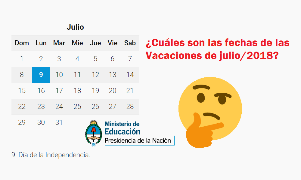 Ansiosos por las fechas de las vacaciones de julio/2018? | Info