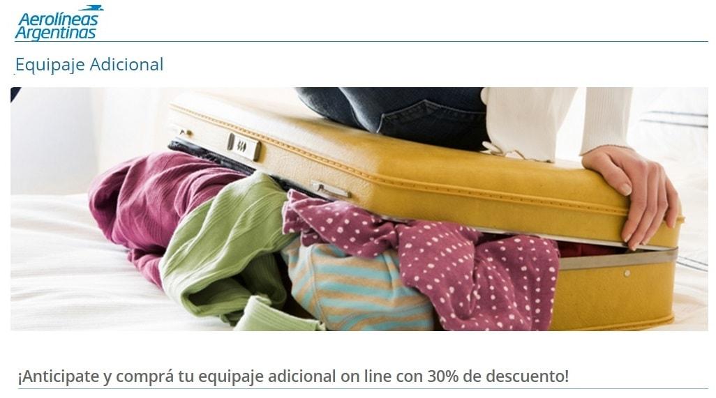 d2b865914 Aerolíneas Argentinas habilita compra online de equipaje adicional. ¿Se  prepara para lowcostizar?