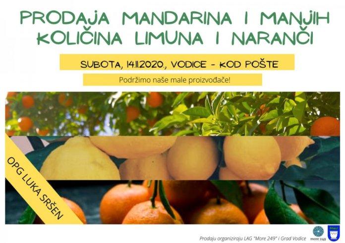 Ove subote kod pošte: Prodaja neretvanskih mandarina,manjih količina limuna i naranči