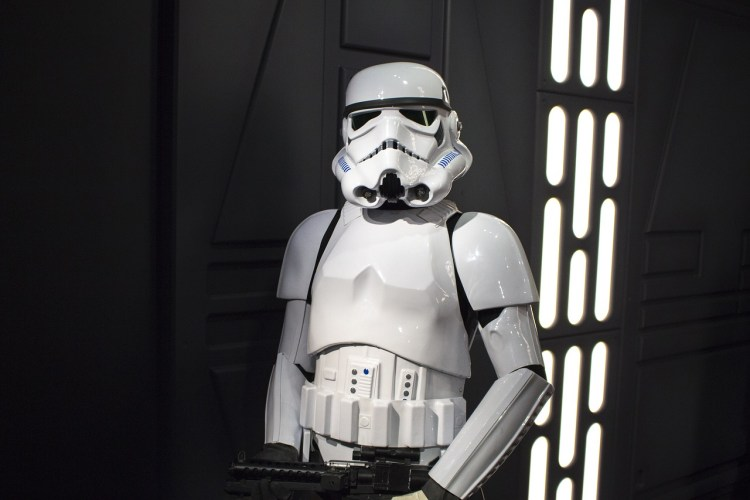 Photo of a stormtrooper on a space ship