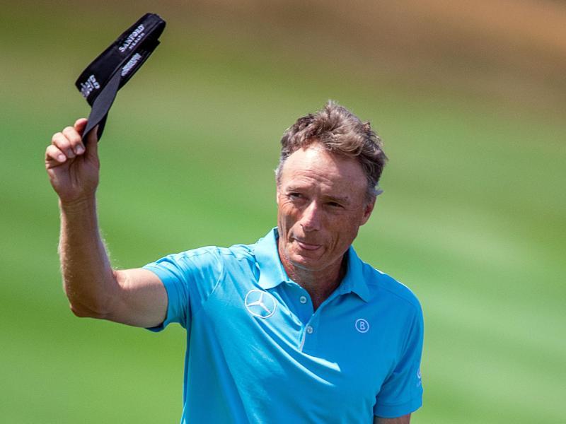 Bernhard Langer hat den Cut beim PGA-Turnier in Hilton Head Island geschafft. Foto: Jens Büttner/dpa-Zentralbild/dpa
