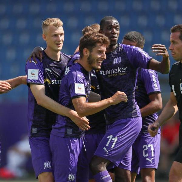 Der VfL Osnabrück entledigte sich gegen Kiel der Abstiegssorgen. Foto: Friso Gentsch/dpa