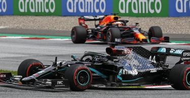 Weltmeister Lewis Hamilton holte sich beim zweiten Spielberg-Rennen den Sieg. Foto: Leonhard Foeger/Pool Reuters/AP/dpa