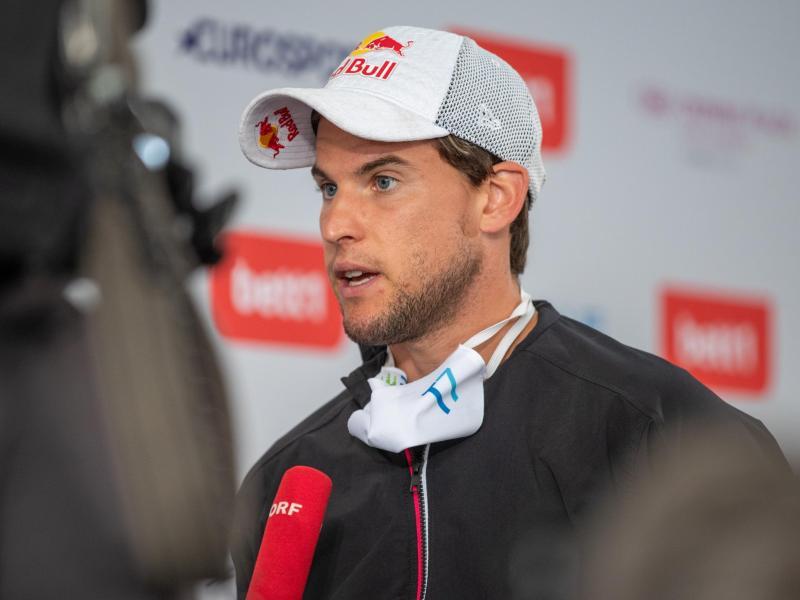 Stellt sich der Kritik: Tennisspieler Dominic Thiem aus Österreich. Foto: Andreas Gora/dpa