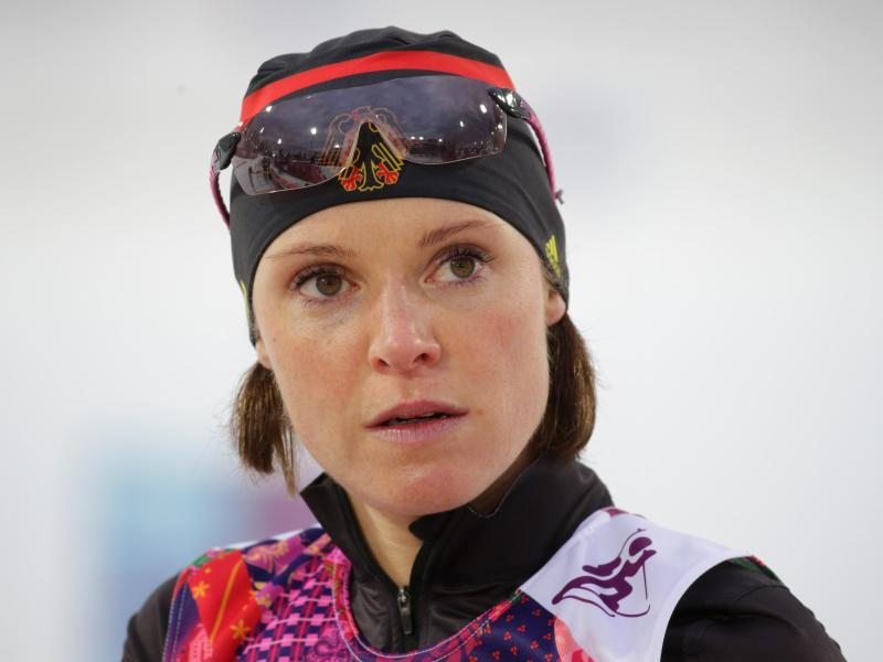 Wurde 2014 wegen einer positiven Dopingprobe aus dem deutschen Biathlon-Team ausgeschlossen: Evi Sachenbacher-Stehle. Foto: picture alliance / dpa
