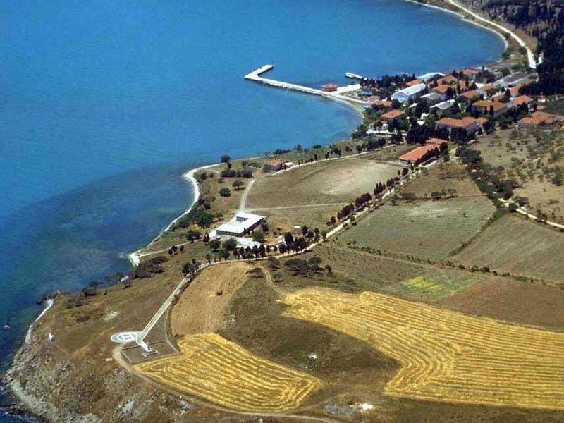 Die Gefängnisinsel Imrali im Marmarameer - hier ist unter anderen der kurdische Rebellenführer Abdullah Öcalan inhaftiert. Foto: -/Ho HURRIYET/epa/dpa