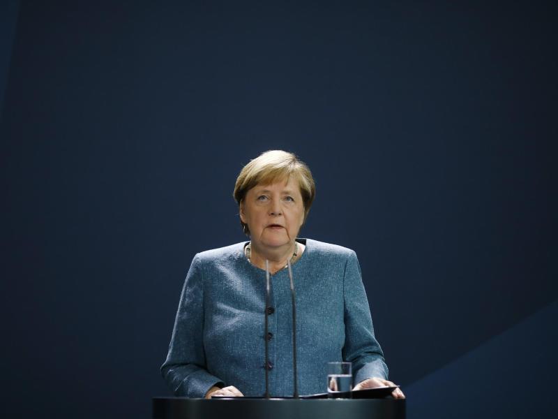 Bundeskanzlerin Angela Merkel spricht im Fall des russischen Regierungskritikers Nawalny von einem «versuchten Giftmord». Foto: Markus Schreiber/AP POOL/dpa