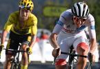 Dominieren die Gesamtwertung der 107. Tour de France: Tadej Pogacar (r) und Primoz Roglic. Foto: David Stockman/BELGA/dpa