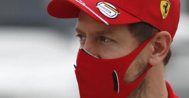 Fährt zum letzten Mal für Ferrari: Sebastian Vettel. Foto: Hamad Mohammed/Pool Reuters/AP/dpa