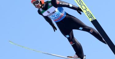 Markus Eisenbichler kam in der Qualifikation zum Neujahrsspringen auf den dritten Rang. Foto: Daniel Karmann/dpa