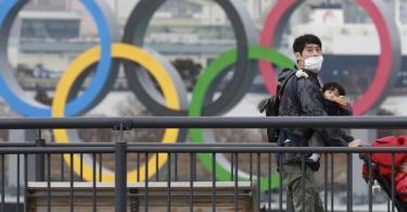 Ein verwegener Plan: Statt in Tokio könnten die Olympischen Spiele in Florida stattfinden. Foto: Koji Sasahara/AP/dpa