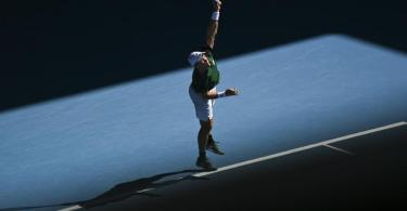 Chancenlos gegen Dominic Thiem: Dominik Koepfer. Foto: Dean Lewins/AAP/dpa