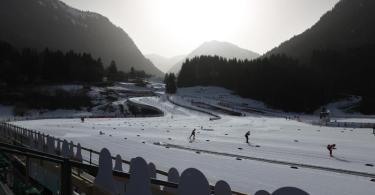 Die nordische Ski-WM findet in Oberstdorf statt. Foto: Karl-Josef Hildenbrand/dpa
