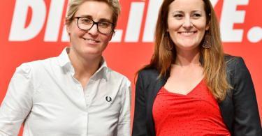Sollen die Linke einen und nach vorne bringen: Susanne Hennig-Wellsow (l) und Janine Wissler. Foto: Frank May/dpa