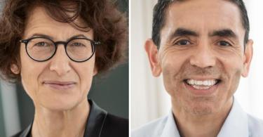 Die Gründer des Mainzer Corona-Impfstoff-Herstellers Biontech, Özlem Türeci und Ugur Sahin. Foto: Biontech/dpa