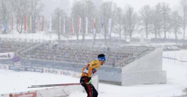 Die deutschen Langläufer mussten sich in Oberstdorf mit Rang sieben in der Staffel über 4x10Kilometer zufrieden geben. Foto: Daniel Karmann/dpa