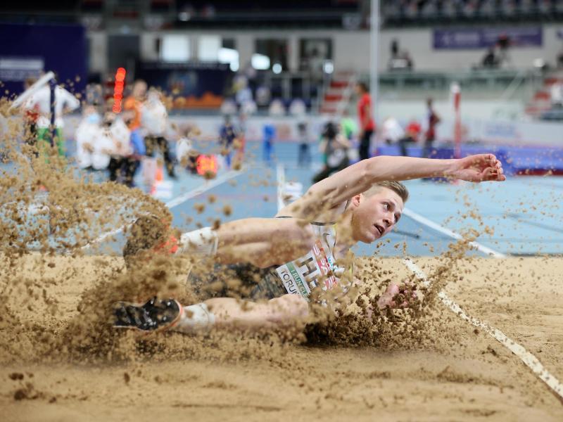 Max Heß greift erneut bei einer Hallen-EM nach einer Medaille. Foto: Leszek Szymanski/PAP/dpa