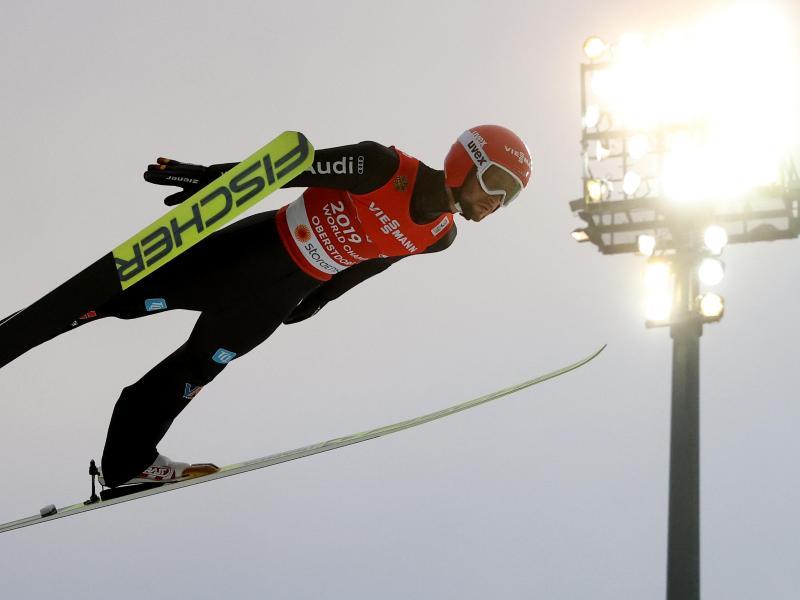 Markus Eisenbichler sprang 135 und 138,5 Meter weit. Foto: Karl-Josef Hildenbrand/dpa