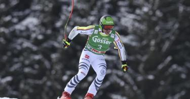 Erreichte im Super G in Saalbach die Top Ten: Andreas Sander. Foto: Alessandro Trovati/AP/dpa